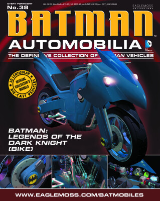 DC Batman Automobilia Collection Magazin + Modell 38: Legends of the Dark Knight Batcycle