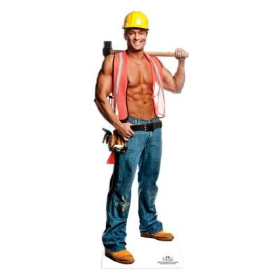 Chippendales Pappaufsteller Stand Up Billy Bauarbeiter 190 Cm