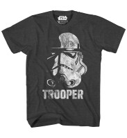 Star Wars Trooper Head Jugend Youth T-Shirt - (schwarz)