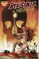 Red Sonja VS Thulsa Doom 1 Cover E Red Foil Edition