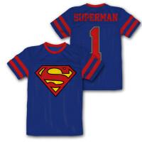 Superman Mesh Trikot - Superman Logo (blau)