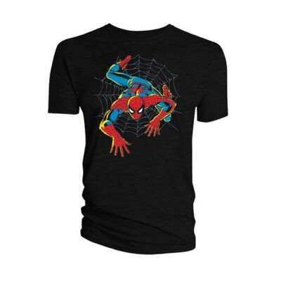 Spider-Man T-Shirt - Web (schwarz) S