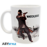 Watch Dogs Keramiktasse - Aiden shooting (320 ml)