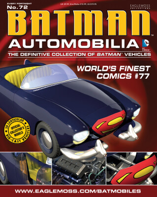 DC Batman Automobilia Collection Magazin + Modell 72: Worlds Finest #77 Batmobil