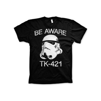Star Wars T-Shirt - Be Aware TK-421 Trooper (schwarz)