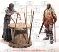 Walking Dead Actionfigurenset: Morgan with Impaled Walker...