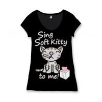 Big Bang Theory Damen T-Shirt (Girlie): Sing Soft Kitty...