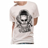 Suicide Squad Movie T-Shirt - Joker Face (weiss)