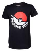 Pokemon T-Shirt - I choose you (schwarz)