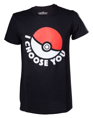 Pokemon T-Shirt - I choose you (schwarz) XL