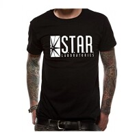 Flash TV Serie T-Shirt - Star Labs Logo (schwarz)
