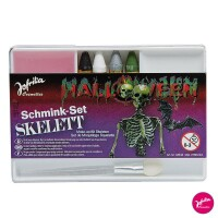 Horror Halloween Schminkset Skelett