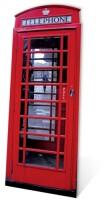 Phone Box Pappaufsteller (Stand Up) - Telefonzelle (rot)...