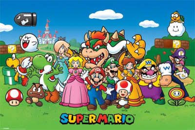 Super Mario Poster: Characters