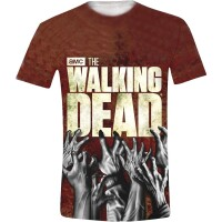 Walking Dead T-Shirt - Hands Logo (Full Printed)
