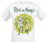Rick and Morty T-Shirt Portal (weiss)