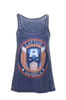 Captain America Tank Top (Damen): Star & Stripes...