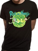 Rick and Morty T-Shirt Portal (schwarz)