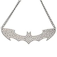 Batman Halkette: Batman Logo Rhinestone Bling Choker