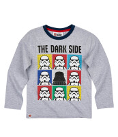 LEGO Star Wars Kinder Langarm-Shirt - Dark Side (grau)
