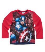 Avengers Kinder Langarm-Shirt - Captain America (rot)