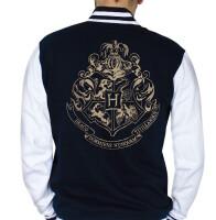 Harry Potter College-Jacke - Hogwarts Wappen (navy/weiss)