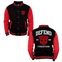Transformers College-Jacke - Defend Cybertron (schwarz/rot)