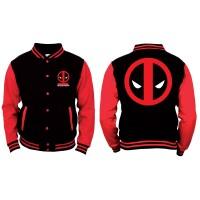 Deadpool College-Jacke - Logo (schwarz/rot)