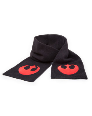Star Wars Schal mit Rebel Alliance Fleece Logo (schwarz/rot)