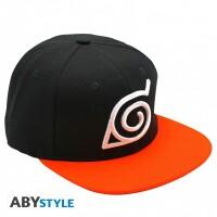 Naruto Baseball Cap Snapback - Konoha (schwarz/orange)