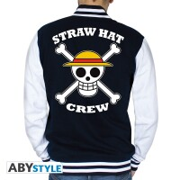 One Piece College-Jacke - Straw Hat Crew Skull (navy/weiss)