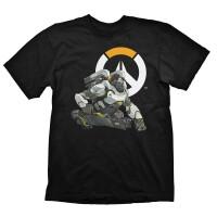 Overwatch T-Shirt - Winston Logo (schwarz)