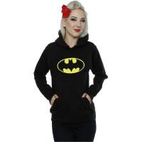 Batman Girlie-Kapuzenpullover Batman Logo (schwarz)