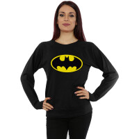 Batman Girlie Sweatshirt Batman Logo (schwarz)