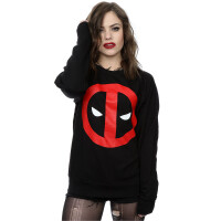 Deadpool Girlie Sweatshirt Deadpool Clean Logo (Schwarz)