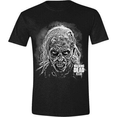 Walking Dead T-Shirt - Hideous Walker Face (schwarz) S