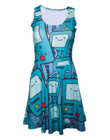 Adventure Time Kleid (Damen): Beemo all over (fullprint)