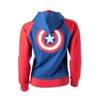 Marvel Comics Girlie-Kapuzenjacke Captain America Schild...