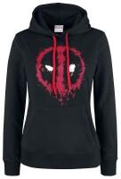 Deadpool Girlie-Kapuzenpullover Splatter Logo