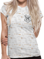 Harry Potter Damen T-Shirt (Girlie): Hedwig Pattern...