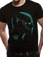 Black Panther T-Shirt - Neon Face (schwarz)