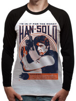 Star Wars Langarm-Shirt - Han Solo in it for the money...