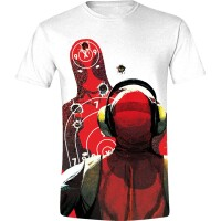 Deadpool T-Shirt - Shooting Range (weiß)