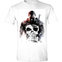 Punisher T-Shirt - Smoke (weiss)