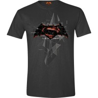 Batman vs. Superman T-Shirt - Cubic Logo (anthrazit)