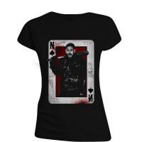 Walking Dead Damen T-Shirt (Girlie): Negan Playing Card...