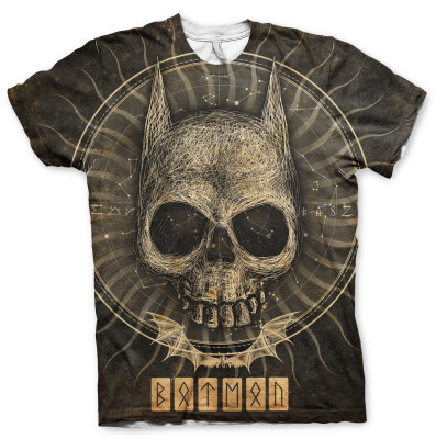 Batman T-Shirt - Gothic Skull (Allover)
