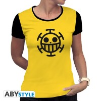 One Piece Damen T-Shirt (Girlie): Trafalgar Law (gelb)
