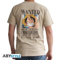 One Piece T-Shirt - Wanted Ruffy (beige)