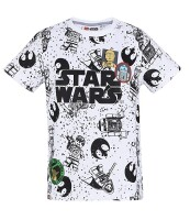 Star Wars T-Shirt - Lego All Over Print (weiß)
